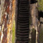 Celkový pohled na západní rameno schodiště