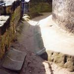 1) Koridor na terasu před opravou