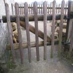 Pravá branka u skalního domku