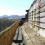 1) Terasa spodní -můstek, plot a vinice po celkové opravě
