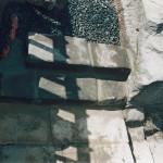 10) Odvod vody ze střechy domku a zdění schodů