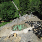 10) Zastřešení spáry - pohledová betonová skořepina