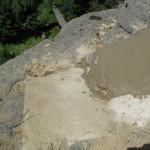 14) Zastřešení spáry - pohledová betonová skořepina