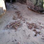 Nepropustný jílový žlab - nároží jižního a západního traktu 1