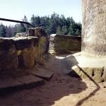 2) Koridor na terasu před opravou