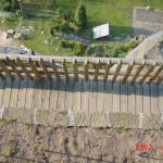 3) Terasa spodní -můstek, plot a vinice po celkové opravě