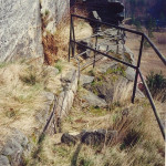 3) Terasa spodní - před stavbou můstku a před vyčištěním