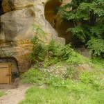 4) Nové dubové dveře