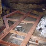 7) Podlaha zadní části - průběh opravy
