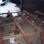 9) Ambit jih, pohled k západu. Oprava podlahy2.