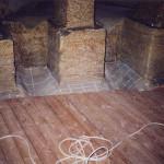 9) Podlaha přední části - průběh opravy