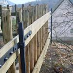 Ukázka vyměněných částí plotů