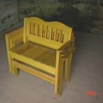 lavička s možností stohování