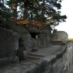 Východní konec terasy křížové cesty