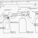 Drenáž nad klenbou - výsek (2)