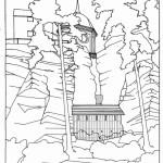 Obnova severního vstupu - výsek ze studie (2)