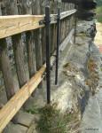 Nová konstrukce plotu, nezávislá na můstku