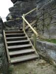 Zábradlí západního schodiště