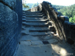 Opravené schody s odtokem vody